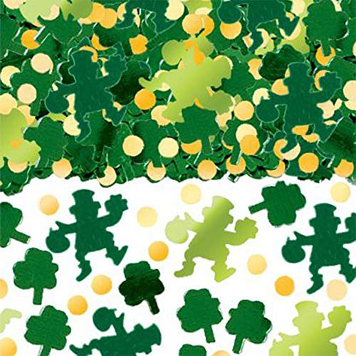 Shamrock Table Decorations (ANJIA St Patrick's Day Shamrock Leprechaun Confetti - Irish Party Decorations Table Confetti(1500PCS))