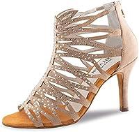 Anna Kern - Mujeres Zapatos de Baile 800-75 - Ante Beige - 7