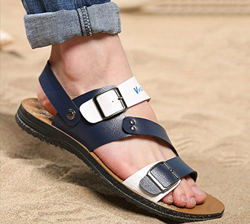 da Shoes Beach Blue Casual Uomo LEDLFIE Traspiranti Sandali Pantofole Joker fwpq5n1X6x