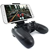 [Upgraded Version] Maximum 7.9 inch Clip Stand Holder, Megadream Adjustable Android Tablet Phone Gaming Clamp for Playstation PS4 Controller Samsung Galaxy S8 S7 Note 8 Sony HTC LG Huawei - Black