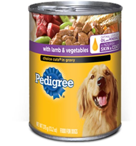 Pedigree Choice Cuts in Gravy with Lamb and Vegetables Food for Dogs, 13.2-Ounce Cans (Pack of 24), My Pet Supplies