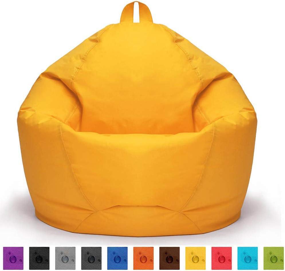 80cm Sac de Haricot Pouf sans Remplissage,Marron,70 420D Imperm/éable Oxford Confortable Coussin de Sol Si/ège Poire Couverture de Meuble pour Enfants Adultes