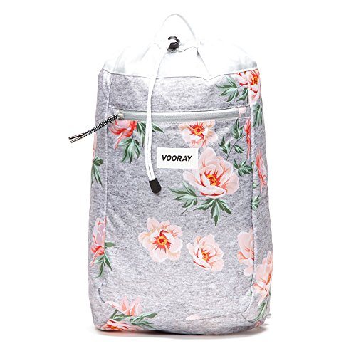 Vooray Stride 16L Cinch Drawstring Backpack, Rose Gray by Vooray