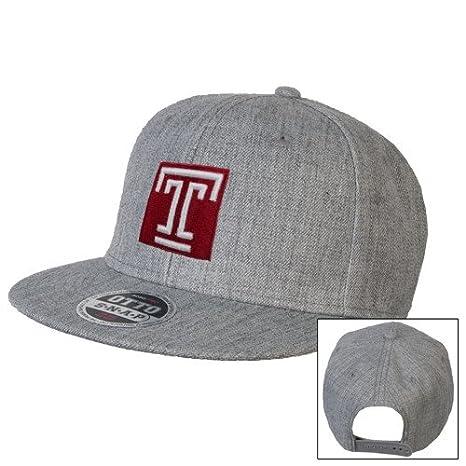 wholesale dealer e9cec dd7b1 ... greece collegefangear temple heather grey wool blend flat bill snapback  hat box e0f78 24510