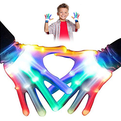 TOPTOY Gifts for Teen Girls, Flashing LED Gloves Gift Ideas for Teen Boys Girls Cool Toys Age 3-12 Year Old Boys Girls 2018 TTUSTTG01