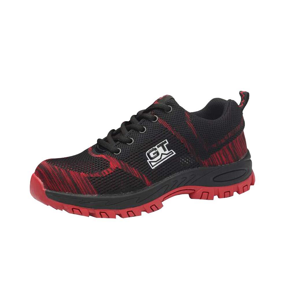 Juleya Chaussures Chaussures de | sécurité | Chaussures de Travail Chaussures pour Hommes Femmes | Baskets Basses légères en Acier rouge f58f4e3 - therethere.space