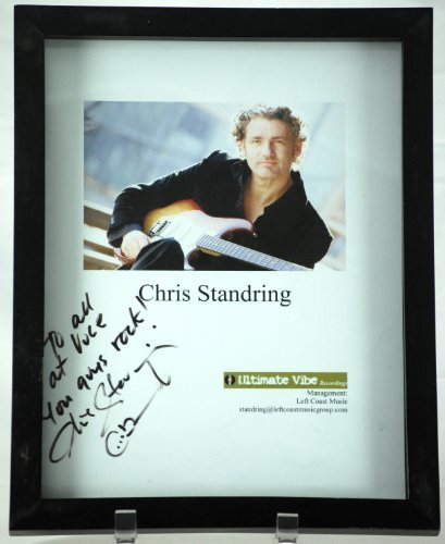 2008   Ultimate Vibe Records   Chris Standring Signed Photograph   Inscribed   Signed In Black   Framed   12 X 9 5 Inches   Rare   Collectible