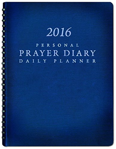 2016 Personal Prayer Diary and Daily Planner (Navy Blue)