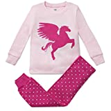Bluenido Girls Pajamas Unicorn Pegasus Lips 2 Piece 100% Super Soft Cotton (12m-8y)