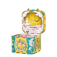 Rolife Build Your Own Music Box 3D Wooden Assembly Puzzle Craft Kit Gifts for Kids and Adults ¡