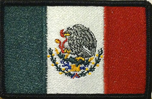 MEXICO FLAG PATCH WITH VELCRO Embroidered Morale Military ME
