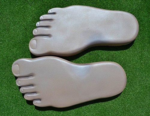 LEFT & RIGHT FOOT PRINT PAVING CONCRETE STONE MOULD GARDEN PATH #S13 Concrete Garden Statue Mold