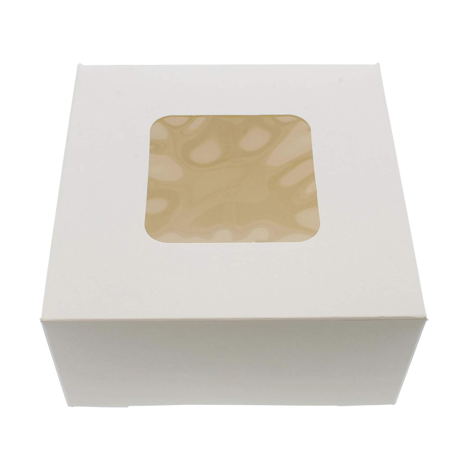 SpecialT White Bakery Boxes with Window, 200pk - 6'' x 6'' Inch Cake Boxes, Party Favor Boxes, Candy Boxes, Dessert Boxes by SpecialT (Image #1)