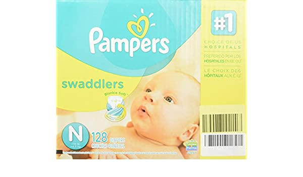 Amazon.com : Pampers® Swaddlers Diapers, Newborn: 4 - 10 lbs, 128 ...