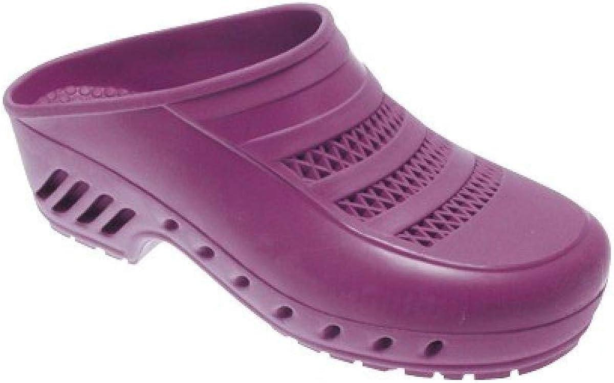 Label Blouse Chaussure de Bloc Abloc Violet pour Bloc op/ératoire Style Sabot de Bloc Violet