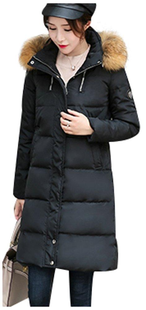 (アイリショップ)ilishop レデイース コート ダウン ジャケット ロング丈 フード付き 保温 アウター おしゃれ 冬着