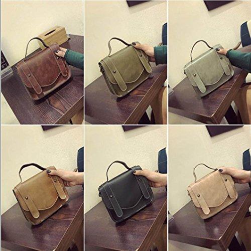 BZLine® Frauen Retro-einzelne Schulter Hand Tasche Schultertasche Handtaschen , 20cm *16cm *6cm Grün