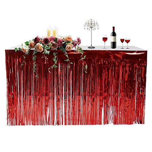 (Là Vestmon Hawaiian Table Skirt Fringed Table Skirt for Party Decoration, Events, Birthdays,)