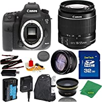 Great Value Bundle for 7D MARK II DSLR – 18-55mm STM + 32GB Memory + Wide Angle + Telephoto Lens + Backpack