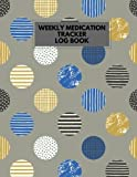 img - for Medication Tracker Log Book: Grey LARGE PRINT Daily Medicine Reminder Tracking, Monitoring Sheets | Treatment History | Tablet Med Organizer, Forms, Record & Plan Appointments (Healthcare) (Volume 8) book / textbook / text book