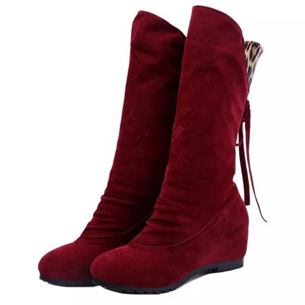 Coloré Chaudes Plates Fourrées Boots Chaussures Classiques Chaudes Hiver Botte (TM) Botte Femme Hiver Femme Martin Bottes Bottines Plates Rouge 76af535 - shopssong.space