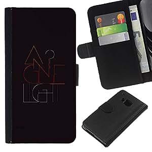 All Phone Most Case / Oferta Especial Cáscara Funda de cuero Monedero Cubierta de proteccion Caso / Wallet Case for HTC One M9 // Light Modern Design Grey Colors