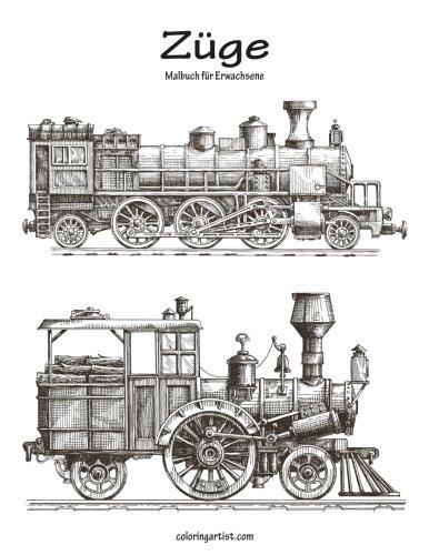 Züge-Malbuch für Erwachsene 1: Amazon.de: Nick Snels: Fremdsprachige ...
