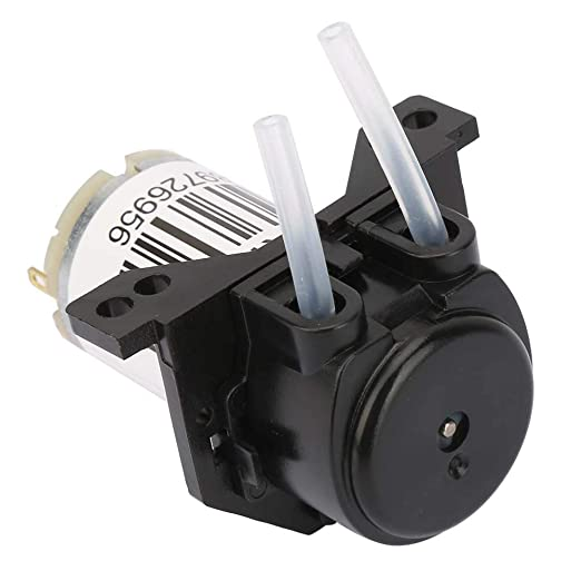 Right Angle black YWBL-WH Micro Silent Peristaltic Pump DC 6V Self-Priming Dosing Pump
