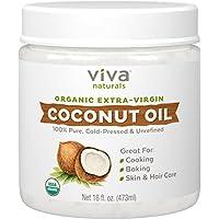 Aceite de coco extra orgánico de la Virgen de Viva Naturals, 16 onzas