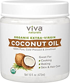 Viva Naturals Organic Extra Virgin Coconut Oil, 16 Ounce (B00DS842HS) | Amazon Products
