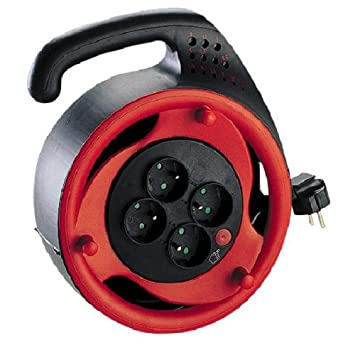 Legrand LEG90970 Enrouleur à usage domestique cordon 10 m Accessoire electricite adaptateur prolongateur rallonge plastique metal