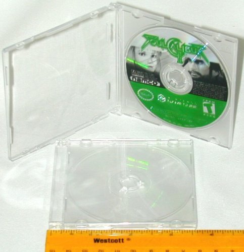 "100 ULTRA THIN 3"" Mini-Disc CD / DVD Cases #CDBR30 - Clear w/ Frosted Clear Back (Gamecube, Mini, Game Disc, Boxes)"