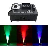 1500W RGB LED DMX Control Color Fog Smoke Machine Remote Fogging Machines for Stage Light Home Party Wedding Effect ASD…