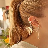 Fashion Crystal Clip Ear Cuff Stud Womens Punk Wrap Cartilage Earring Jewelry#by pimchanok shop