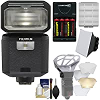 Fujifilm EF-X500 Shoe Mount Flash & LED Video Light with Soft Box + Diffuser Bouncer + Batteries & Charger + Kit