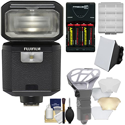Fujifilm EF-X500 Shoe Mount Flash & LED Video Light with Soft Box + Diffuser Bouncer + Batteries & Charger + Kit by Fujifilm