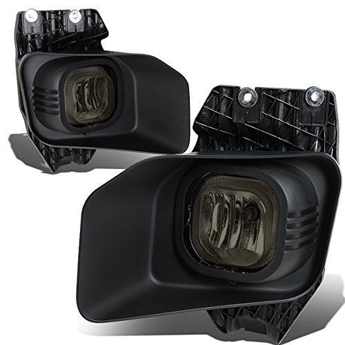 (For 11-16 Ford Super Duty Bumper Driving Fog Lights+Wiring Kit+Bezel+Switch (Smoke Lens) )