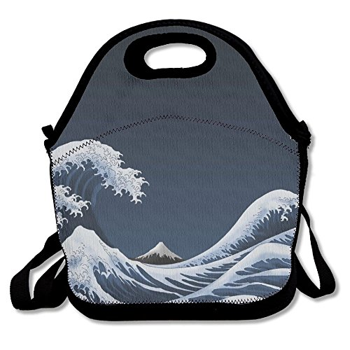 BDANGBAG Cool Artistic Wave Lunch Knapsack Or Handbag Case Lunch Bag/Cool Bag/Cooler/Lunch Box/Picnic Bag Artistic Waves