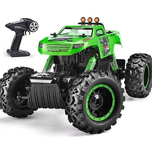 Remote Control Trucks Monster RC Car 1: 12 Scale Off Road Vehicle 2.4Ghz Radio Remote Control Car 4WD High Speed Racing All Terrain Climbing Car Toys Car Gift for Boys (Green) from NQD