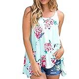 DaySeventh Women Sexy Vest Floral Blouse Tank Top Summer Halter Top (US 4, Green)