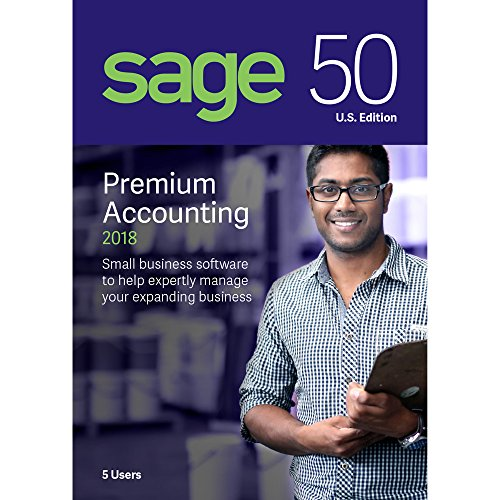 Sage Software Sage 50 Premium Accounting 2018 U.S. 5-User (5-Users)