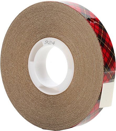 924 Adhesive Transfer Tape - 3M Scotch ATG Adhesive Transfer Tape 924 Clear, 0.50 in x 36 yd 2.0 mil (Pack of 12)
