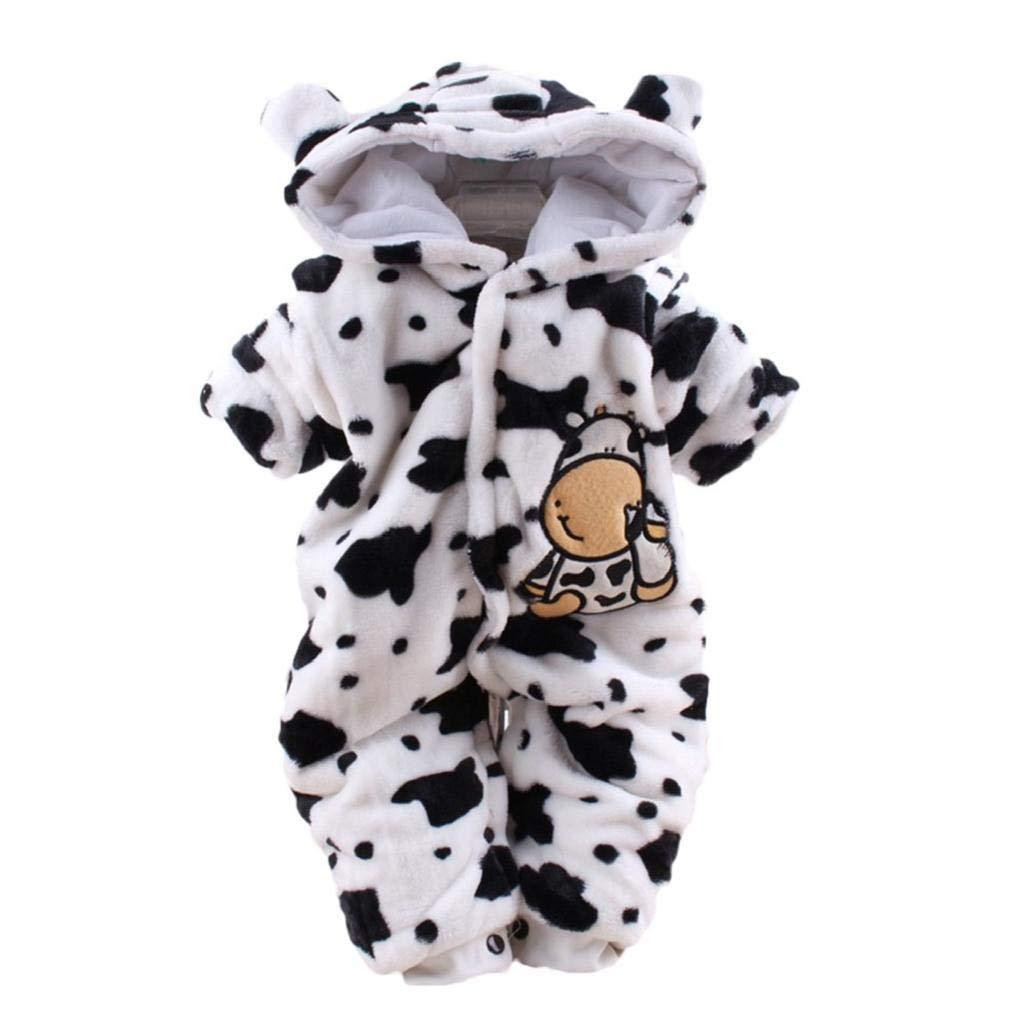 VICGREY ❤ Pagliaccetto Neonato Inverno con Cappuccio Flanella Tutina Animali Cosplay Costume Animale Bambina e Bambino Caseificio Pigiama Romper Vestiti