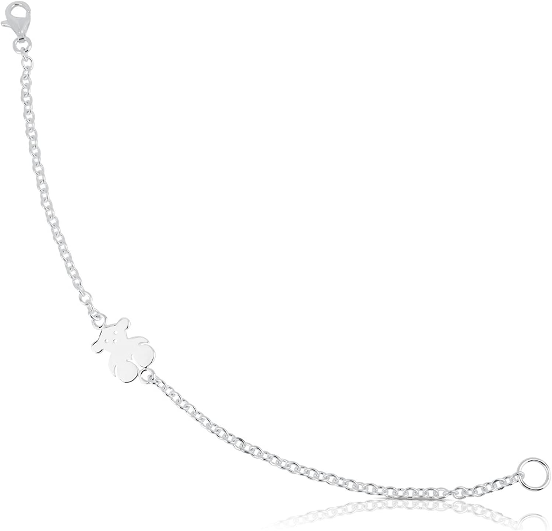TOUS Pulsera cadena Mujer, Plata de Primera Ley - Largo 16 cm