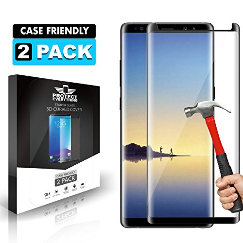 Price comparison product image Galaxy Note 8 Screen Protector [2-Pack], 9H Hardness 3D HD Clear Full Coverage Screen Protector for Samsung Galaxy Note 8 And TPU Screen Protector Anti-Bubble - Anti-Scratch
