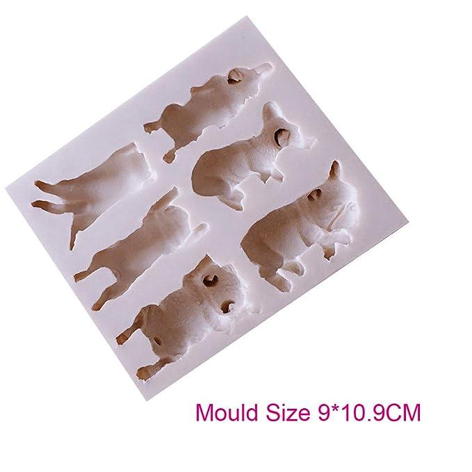 Molde de silicona para fondant de perro o gato, para pasteles, mascotas, perros, gatitos y chocolates: Amazon.es: Hogar