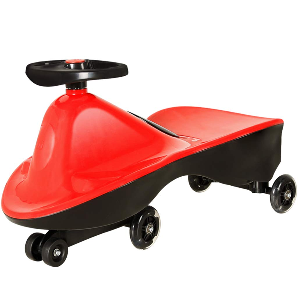 Bobbycars & Rutscher Swing Auto Twist Auto Kind Auto Twist Auto versiegelt Auto Körper 1-3 Jahre alten Jungen Silent Caster Infant Skid ( Farbe   Grün , Größe   69.529cm ) rot 69.529cm