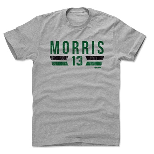 500 LEVEL Marcus Morris Cotton Shirt Medium Heather Gray - Vintage Boston Basketball Men's Apparel - Marcus Morris Boston Font G