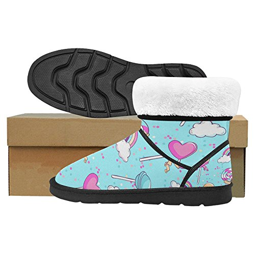 InterestPrint Womens Snow Boots Unique Designed Comfort Winter Boots Multi 10 ZbDUb5