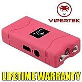VIPERTEK PINK Mini Stun Gun VTS-880 60 Million Volt Rechargeable LED Flashlight